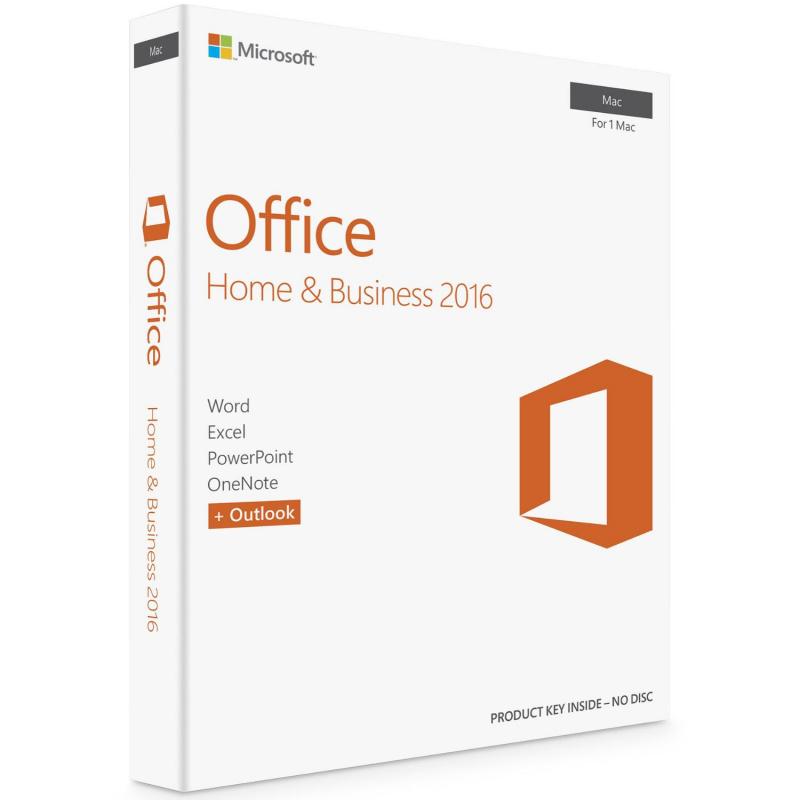 Microsoft Office Home & Business 2016 MAC 1 PC skaitmeninis