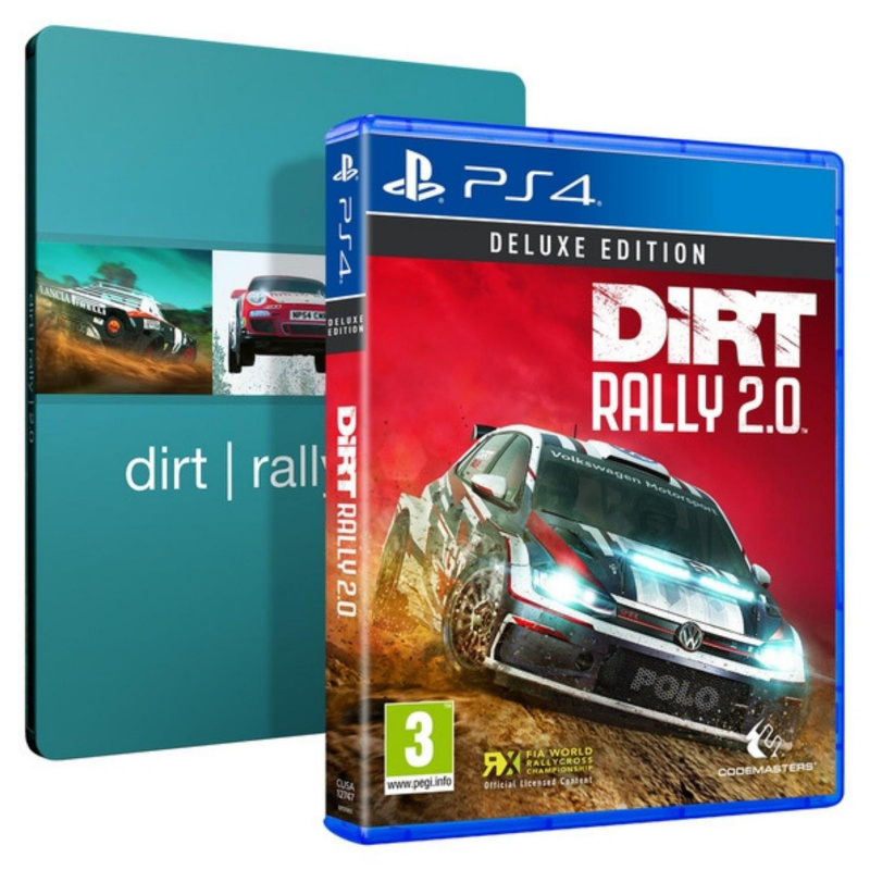 dirt rally 2 0 deluxe edition steelbook ps4. Black Bedroom Furniture Sets. Home Design Ideas
