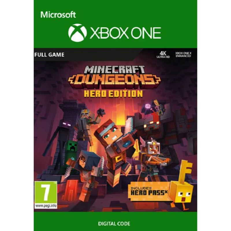 Minecraft Dungeons Hero Edition Xbox One skaitmeninis