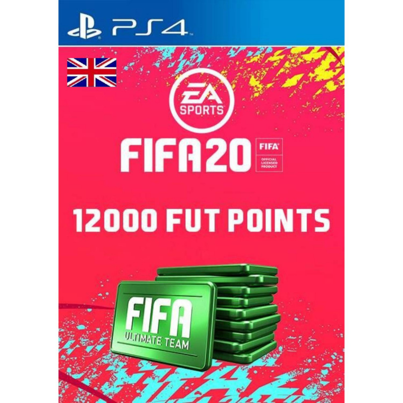 FIFA 20 Ultimate Team - 12000 FIFA points PS4 skaitmeninis