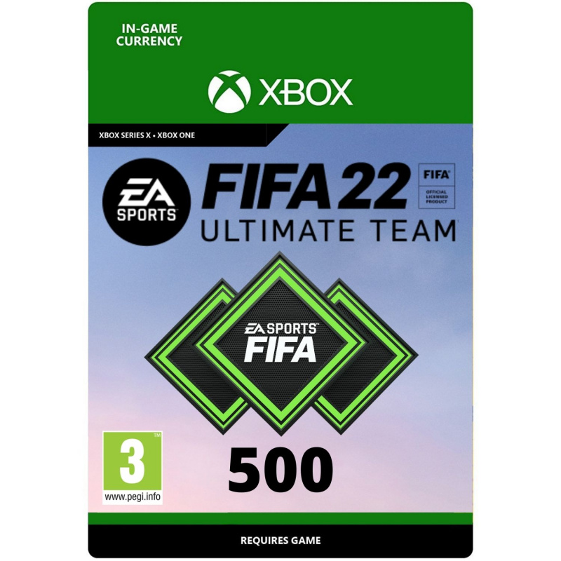 FIFA 22 Ultimate Team 500 points Xbox One   Series S/X (kodas)