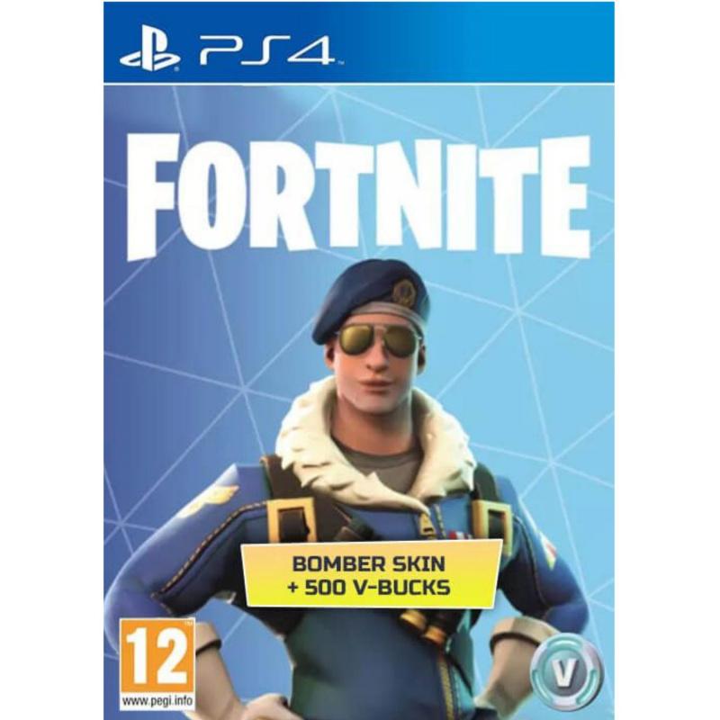 Fortnite Royale Bomber Outfit + 500 V-Bucks PS4 skaitmeninis