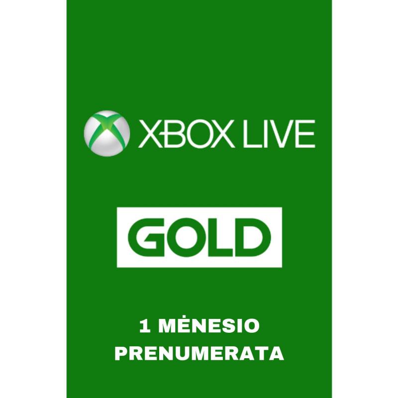 Xbox Live Gold 1 mėnesio prenumerata (EUROPA)