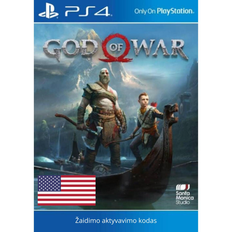 God of War PS4 skaitmeninis USA