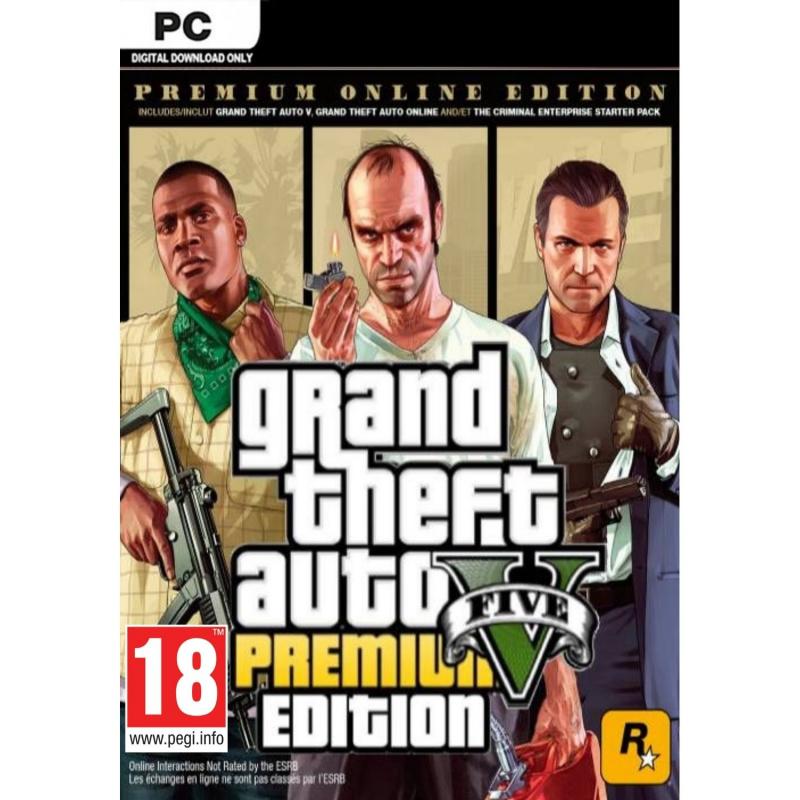 GTA V Premium Online Edition PC (kodas)