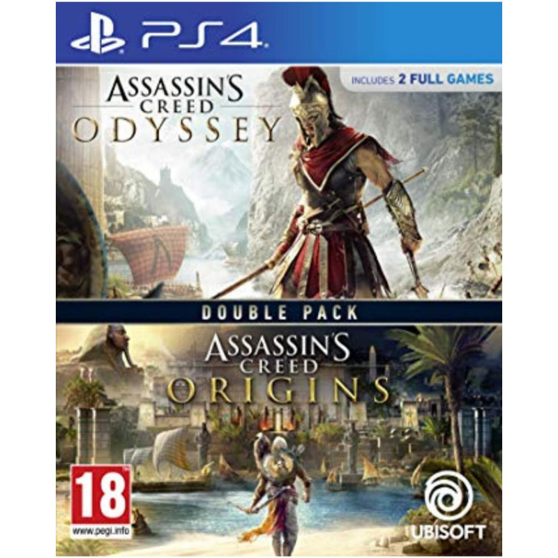 Assassins Creed Origins + Odyssey Double Pack PS4