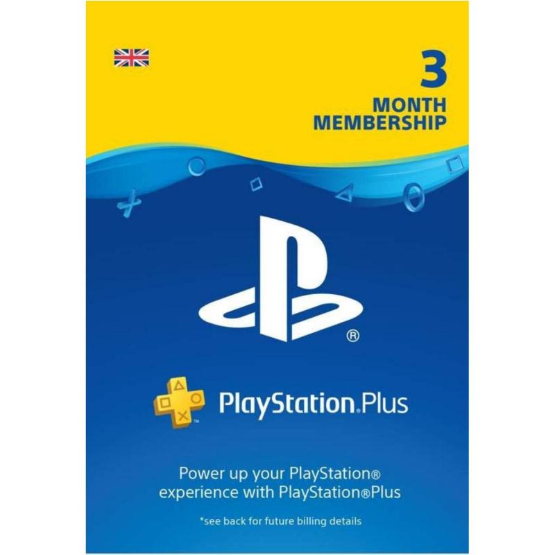 Playstation Plus 3 mėnesių prenumerata (kodas) UK regionas