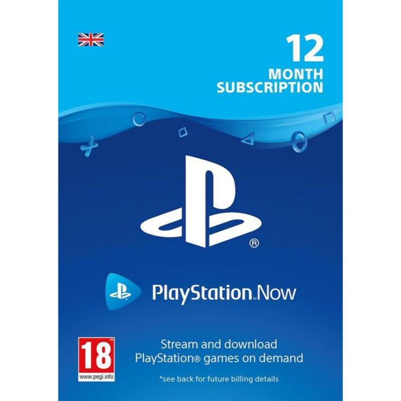 Playstation Now 12 mėnesių prenumerata UK skaitmeninis