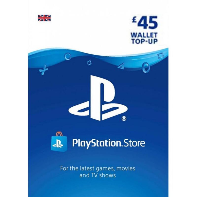 Playstation piniginės £45 papildymas
