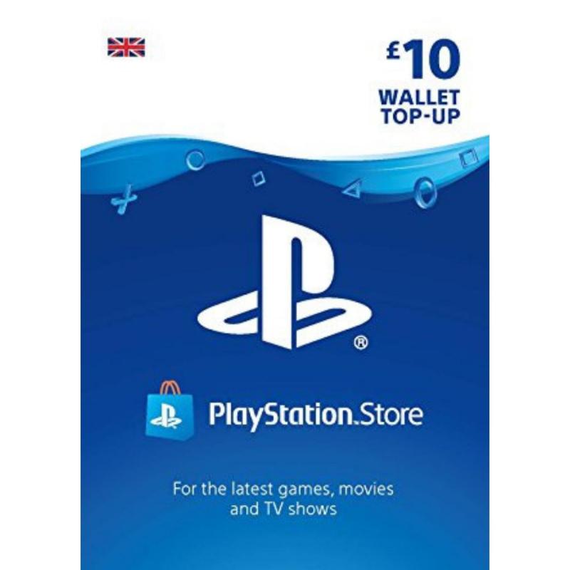 Playstation piniginės £10 papildymas