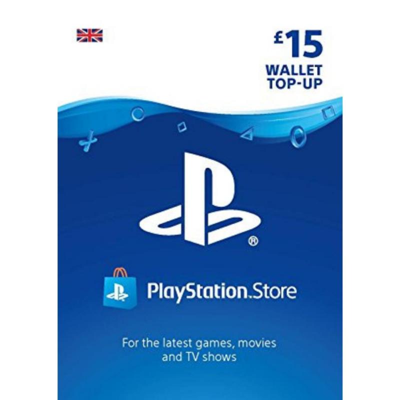 Playstation piniginės £15 papildymas