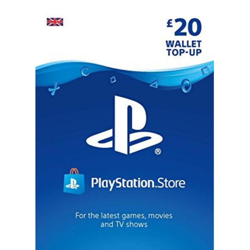 Playstation piniginės £20 papildymas