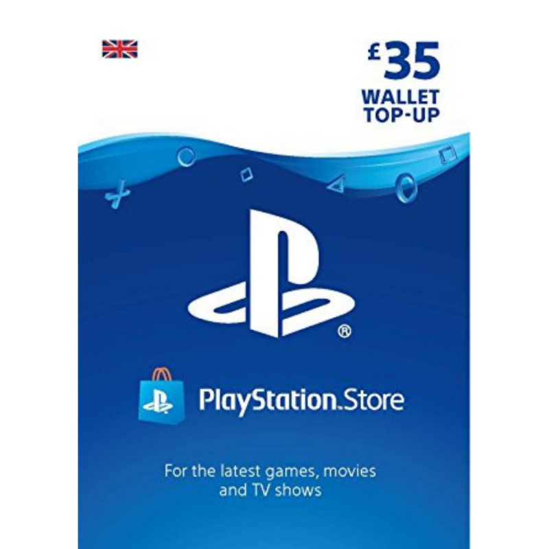 Playstation piniginės £35 papildymas