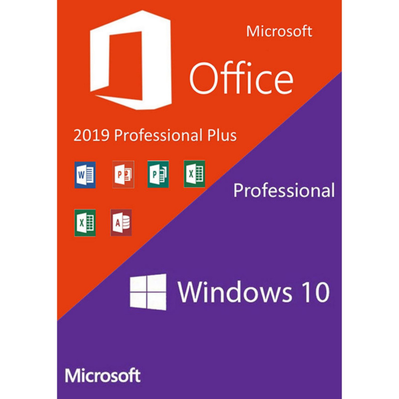 Windows 10 Pro + Office Pro+ 2019 PC skaitmeninis