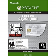 GTA V Online Great White Shark Cash Card Xbox One (kodas)