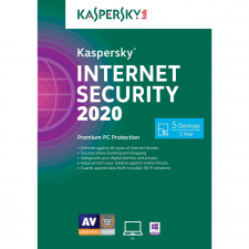 Kaspersky Internet Security 2020 5 PC 1 metams skaitmeninis