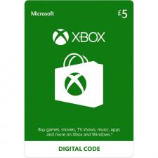 Xbox £5 dovanų kortelė (kodas) UK regionas