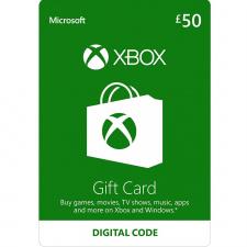 Xbox £50 dovanų kortelė (kodas) UK regionas
